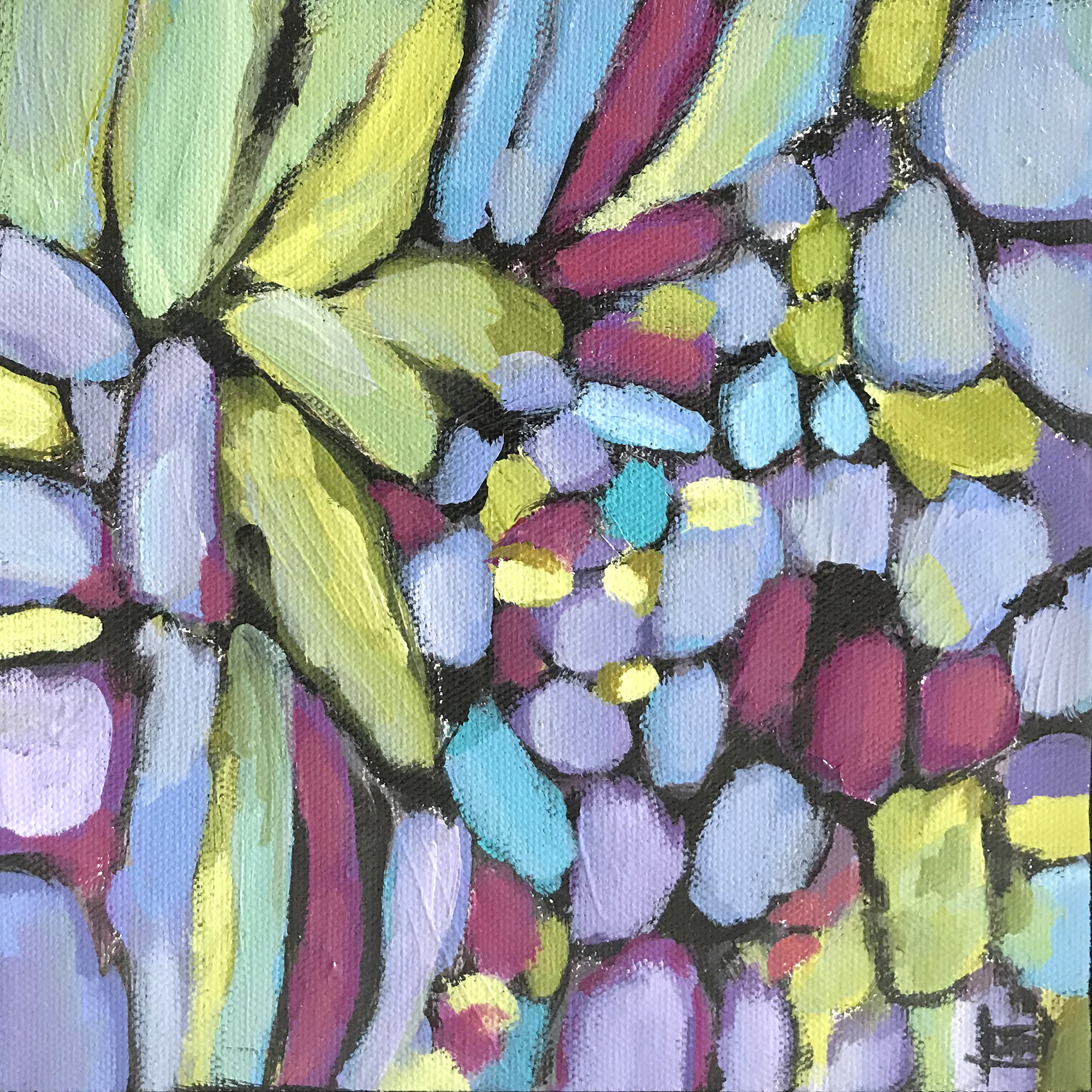 Dana Boucher Petals And Stones Acrylic 8x8