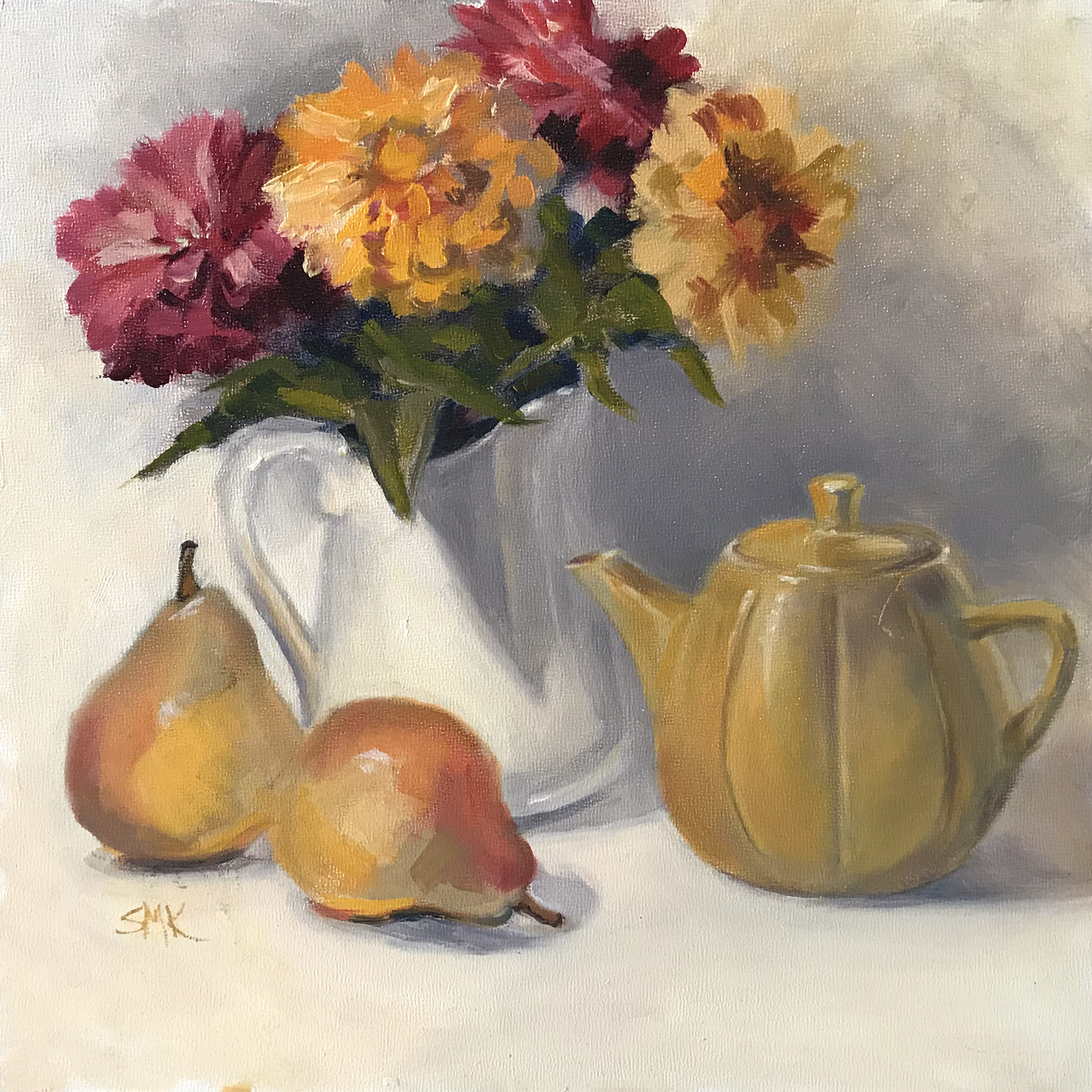 Sandra Kavanaugh Afternoon Tea Oil 12x12