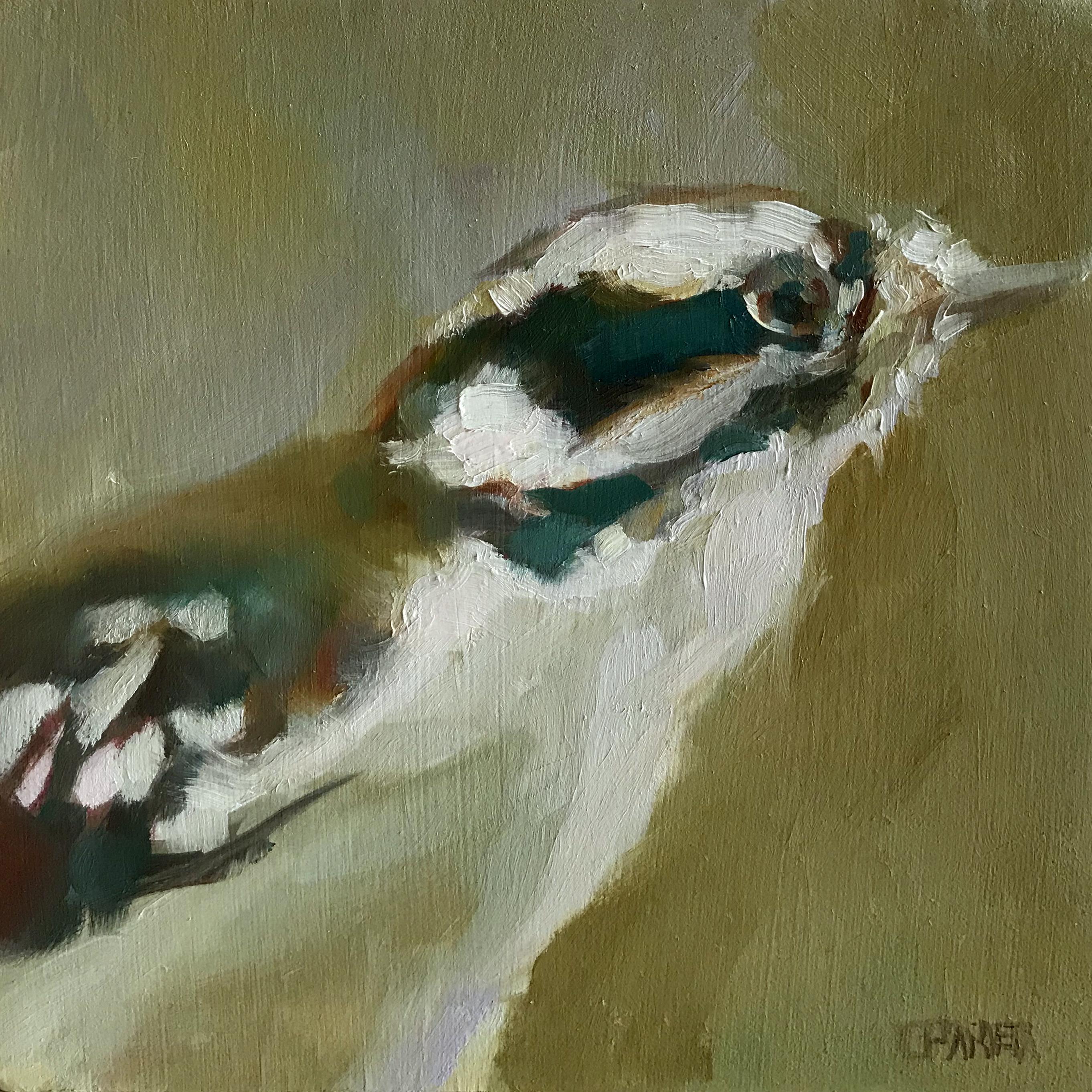 Cynthia Arieta Downy Woodpecker Oil 6x6 225