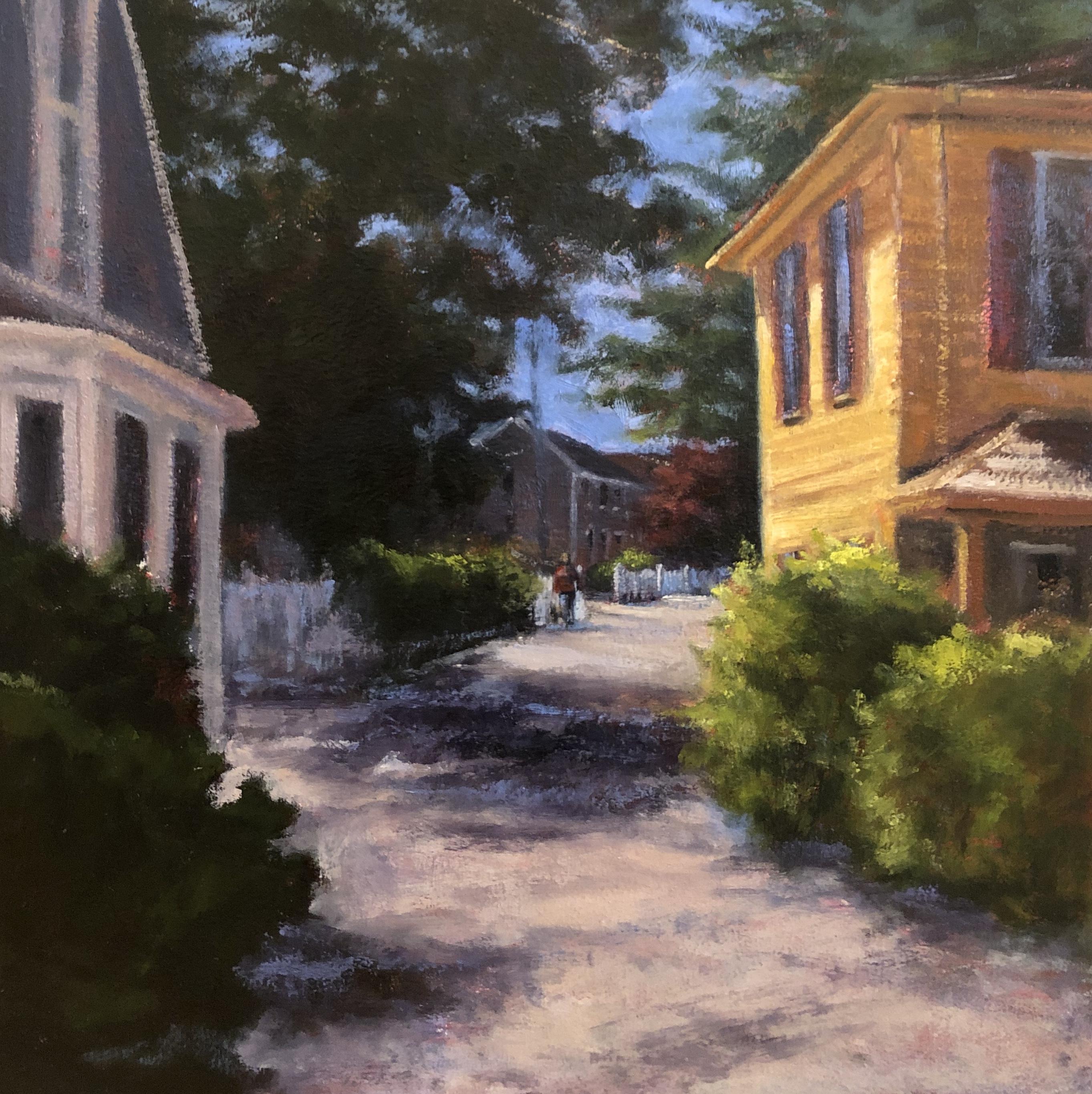 Randy Knowles Side Street Oil 18x18 875