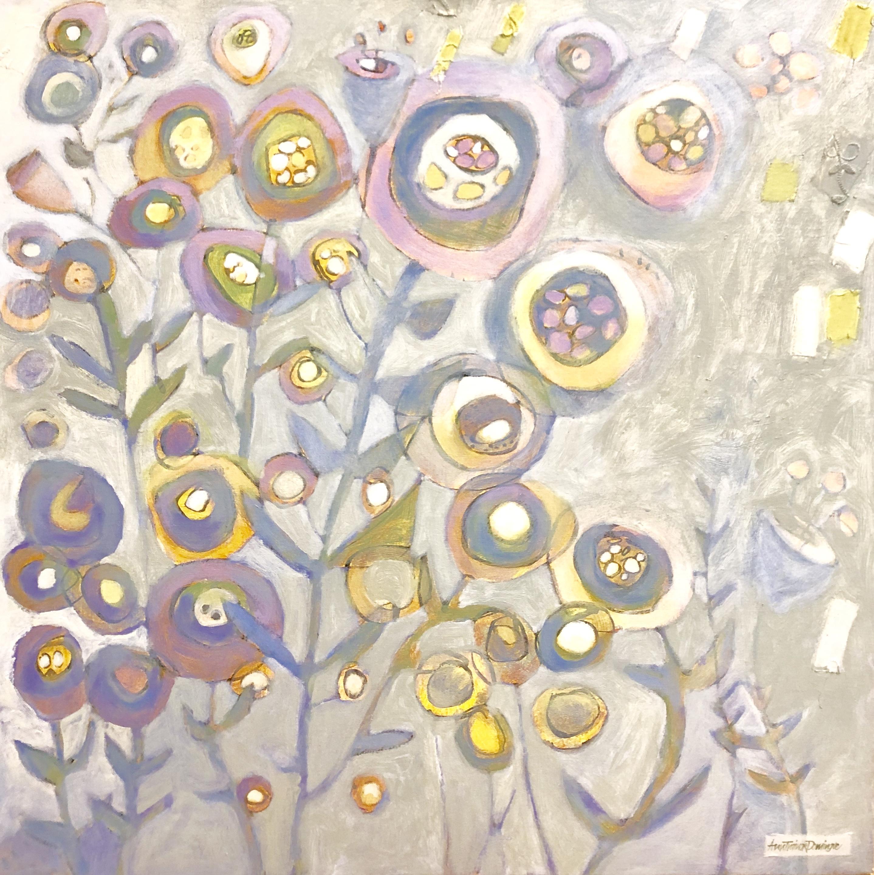 Ann Trainor Domingue Cottage Garden Light acrylic 30x30 2,800