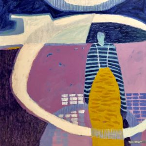 Ann Trainor Domingue Working the Waters acrylic 30x30 2,800