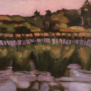 Cheryl Vratsenes Marsh at Dusk Acrylic 12x12 495
