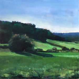 Molly Wensberg Field of Greens Oil 20x20 2,000