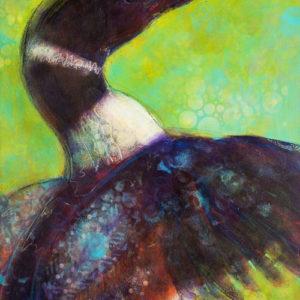 Rosemary Conroy King Northern Diver Acrylic 24x36.5 $1,998