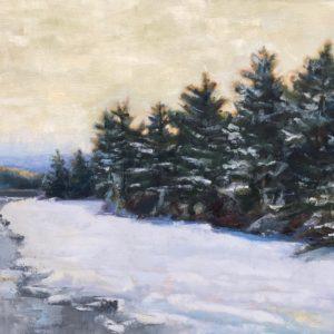 Molly Wensberg On The Edge oil 24x36 3,500