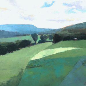 Molly Wensberg Green Slide Oil 16x20 1,500
