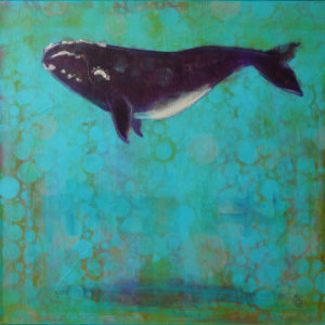 Rosemary Conroy The Beginning of Devotion: Right Whale Acrylic 24x24 $1,648