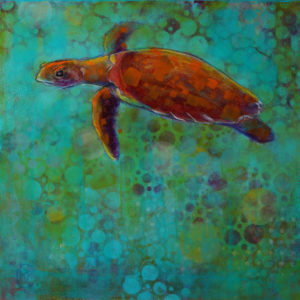 Rosemary Conroy The Beginning of Devotion: Right White-sided Dolphin Acrylic 24x24 $1,648