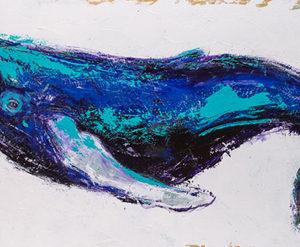 Rosemary Conroy Sanchal of Stellwagen Acrylic 20x48 $2,798