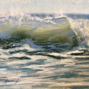 Sandra Kavanaugh Celadon Sea Pastel 9x12 475
