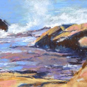 Sandra Kavanaugh Bass Rocks Study #2 Pastel 8x10 375