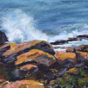 Sandra Kavanaugh Bass Rocks Study #4 Pastel 8x10 375