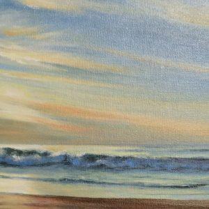 Judy McKenna Sunrise at Rye Beach oil 12x20 795