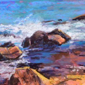 Sandra Kavanaugh Bass Rocks Study #1 Pastel 8x10 375
