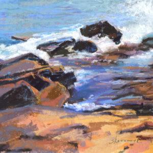 Sandra Kavanaugh Bass Rocks Study #3 Pastel 8x10 375