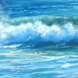 Sandra Kavanaugh Atlantic Blue Pastel 12x24 750