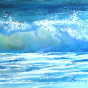 Sandra Kavanaugh Ocean Dance Pastel 9x12 475