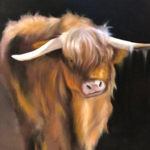 Josee Severino Gate Highlander Pastel 22x22 1600