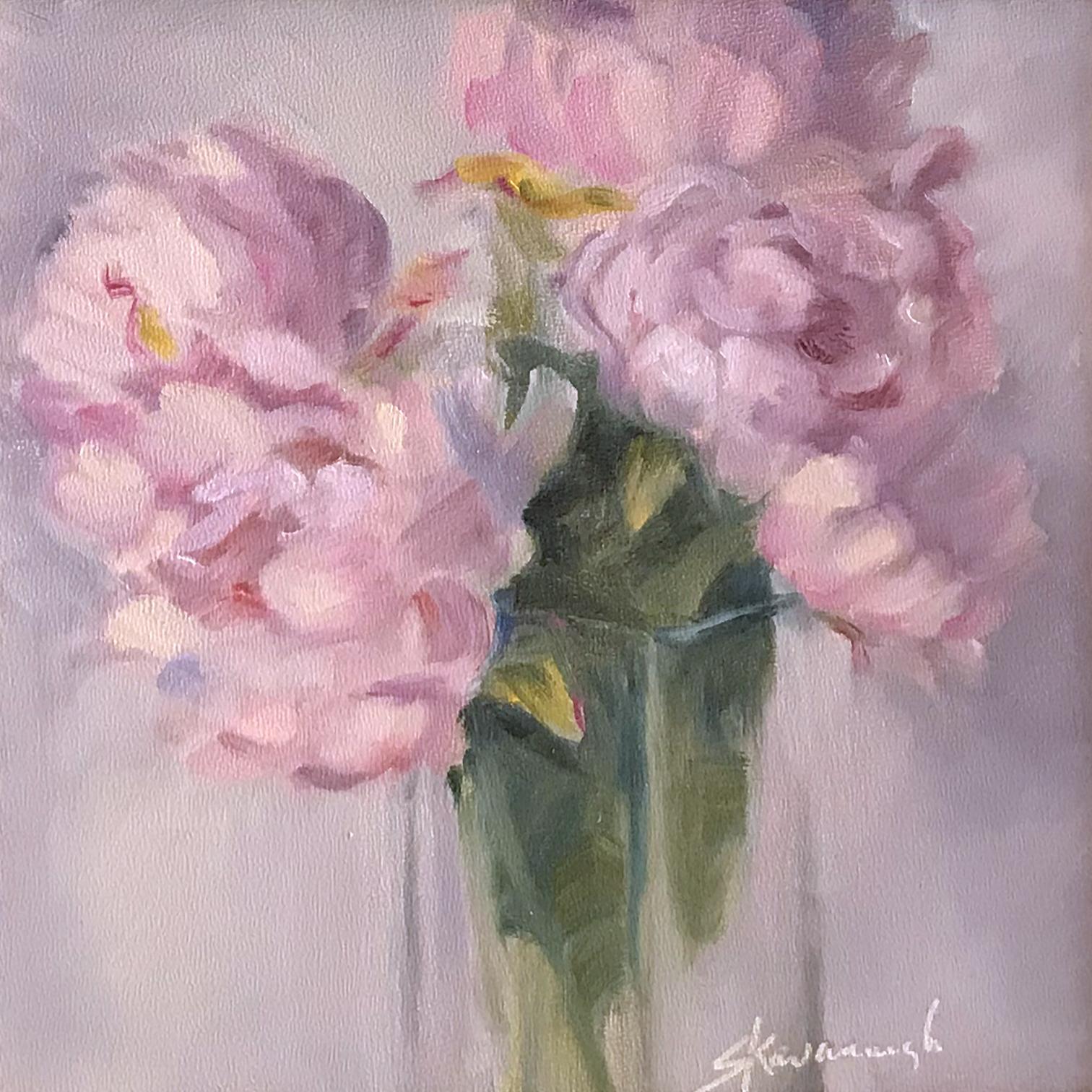 Sandra Kavanaugh Peonies In A Vase Oil 8x8 275