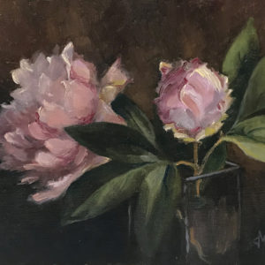 Sandra Kavanaugh Peonies Oil 8x10 250