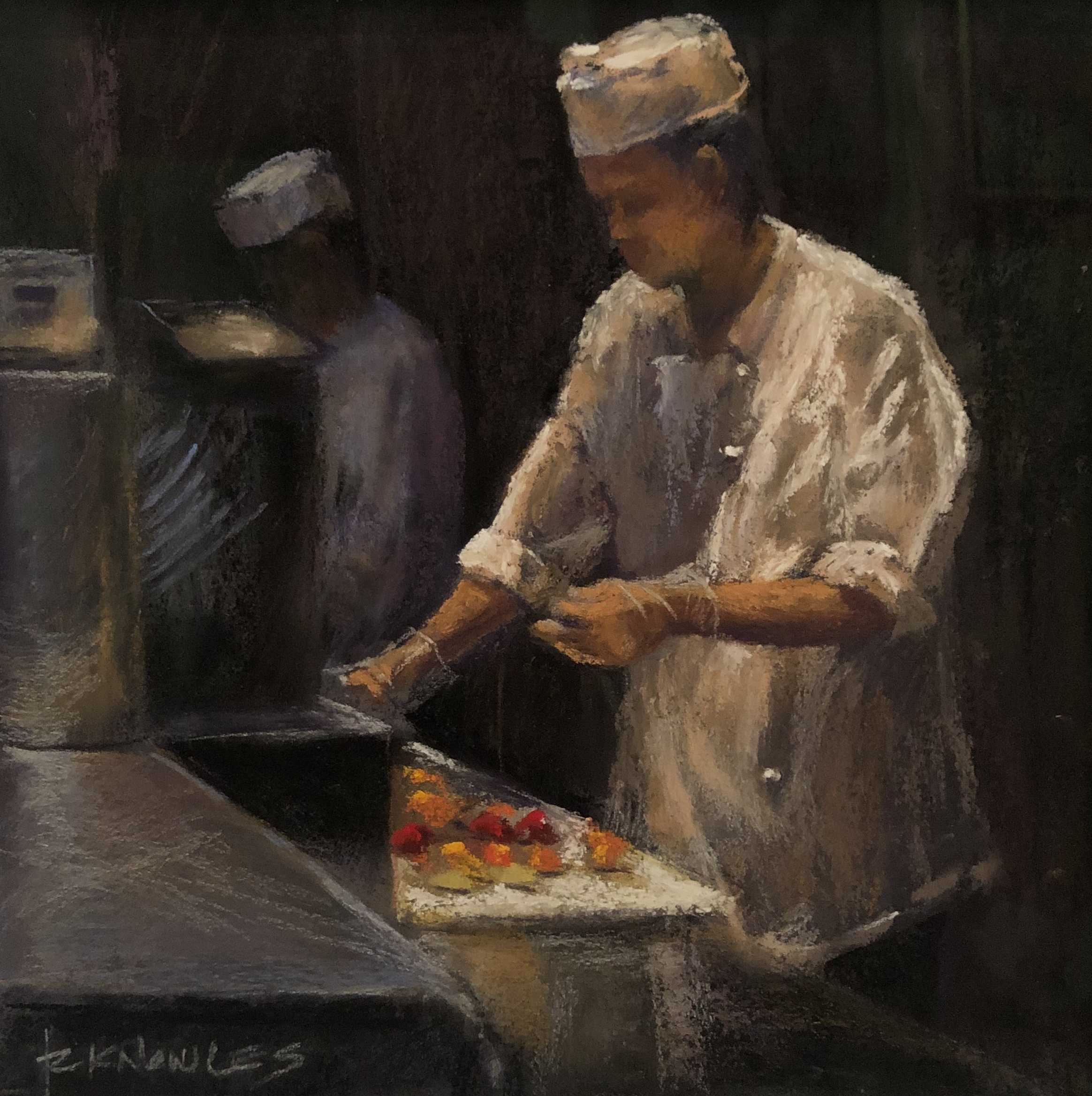 Randy Knowles Sushi at Mint Pastel 8x8 485