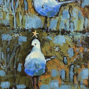 Cheryl Vratsenes Follow the Star Acrylic 15x30 975