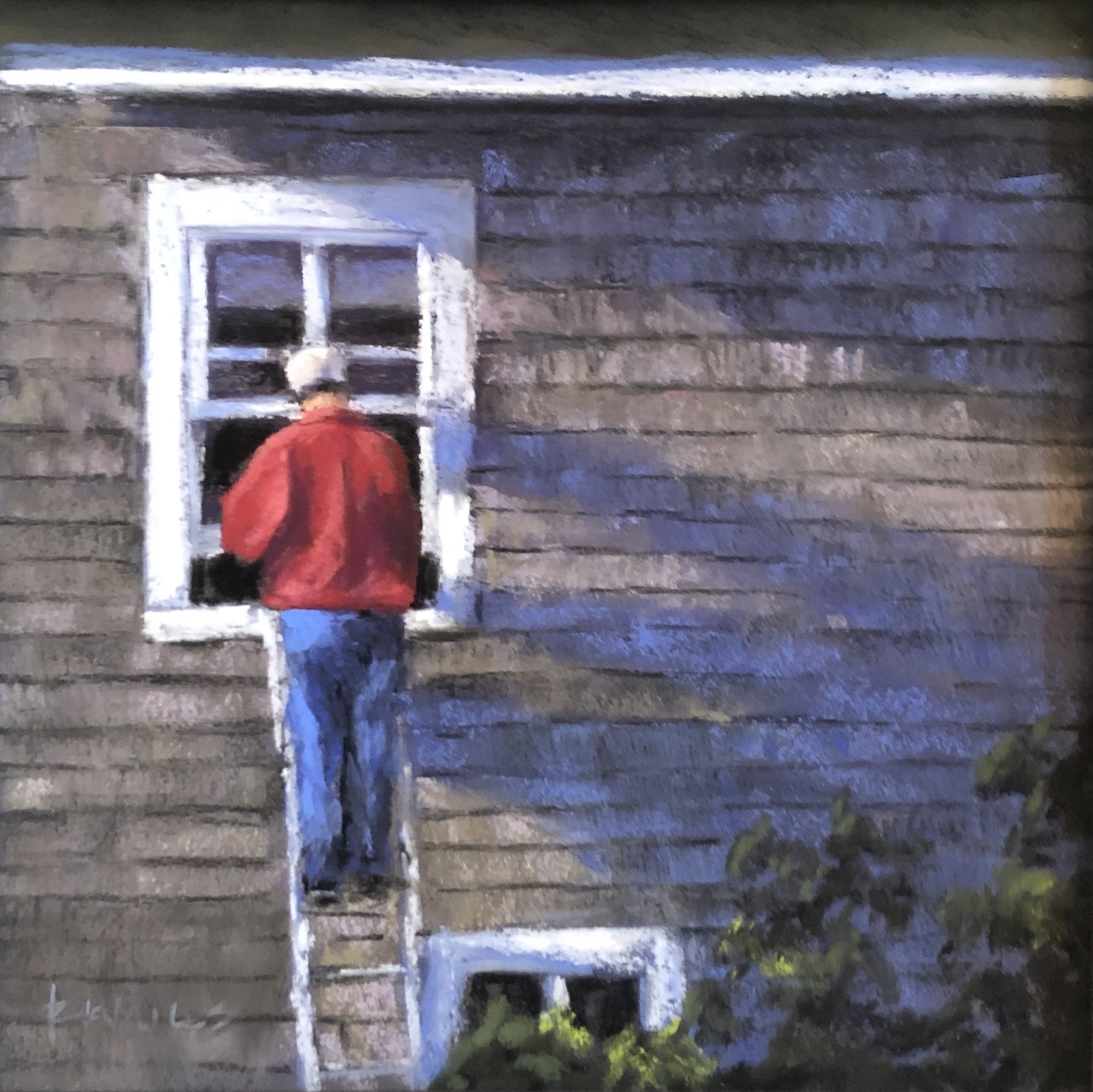 Randy Knowles Monhegan Painter Pastel 8x8 485