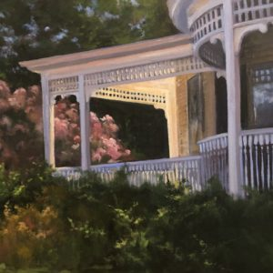 Randy Knowles The Front Porch Oil 24x48 2,200