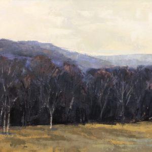 Molly Wensberg Indigo Tree Line oil 18x24 1,500