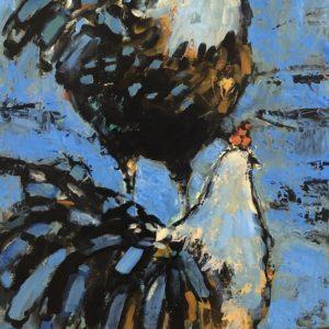 Cheryl Vratsenes Coming and Going Acrylic 15x30 975