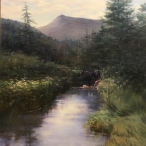 Catherine Tuttle Beaver Dam on Trail to Zealand Oil 16x20 $1,300