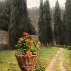 Catherine Tuttle Tuscan Villa with Urn Oil 9x12 875