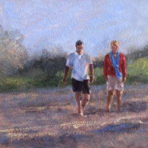 Randy Knowles Quiet Conversation Oil 8x8 285