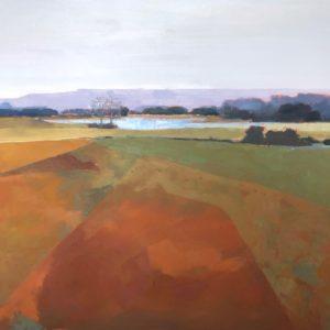 Molly Wensberg Orange Fields Oil 48x60 7,500