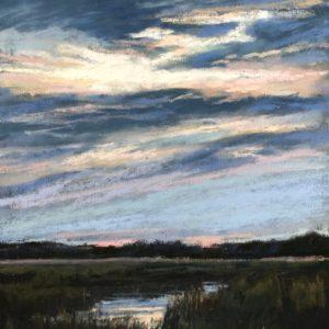 Sandra Kavanaugh Sundown on the Marsh Pastel 8x10