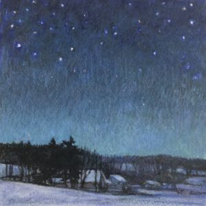 Sandy Wadlington Starry Night Caran d'ache 225