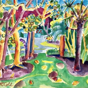 Bruce McColl Dancing Palms, Sanibel watercolor 12x16 1500
