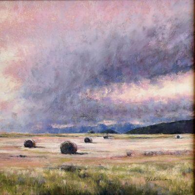Marcia Blakeman Receding Storm Pastel 9x9 595