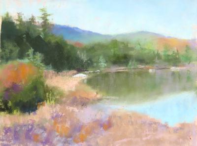 Sandra Kavanaugh Pond Reflections Pastel 9x12 475