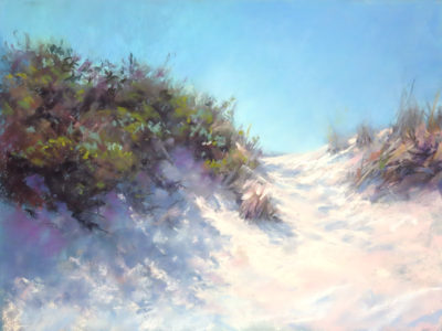 Sandra Kavanaugh Shadows on the Dunes Pastel 12x16 625
