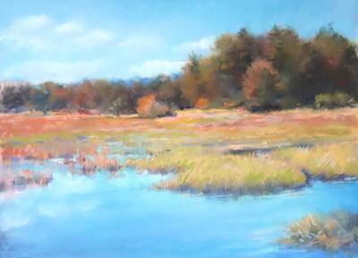 Sandra Kavanaugh Golden Marsh Pastel 18x24 850