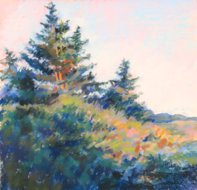 Sandra Kavanaugh Monhegan Glow Pastel 18x18 800