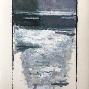 Colin Callahan Pond Foggy Dusk 20x36 1,250