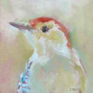 Cynthia Arieta Red Bellied Woodpecker oil 6x6 225