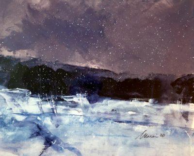 Richard Morin Winter Solstice Field Oil 8x10 225