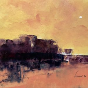 Richard Morin Crimson Tree Line #1 Oil 8x10 225