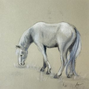 Josee Severino Top of the Hill Pastel Pencil 5x5 150