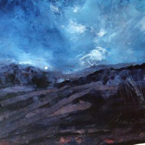 Richard Morin Night Approaching Oil 8x10 225