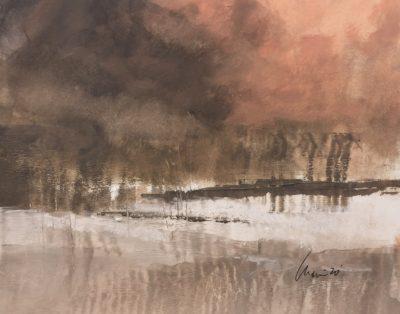 Richard Morin Early Snowfall Oil 8x10 225